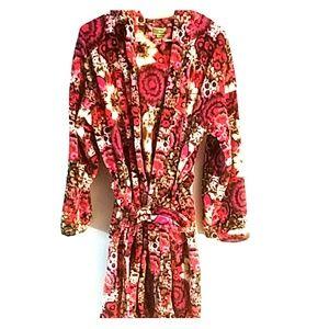 Vera Bradley L/XL robe flowery print soft (0)